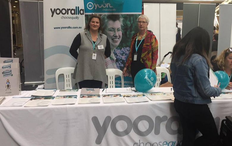 Yooralla answers questions about the NDIS at Our Choice Expo