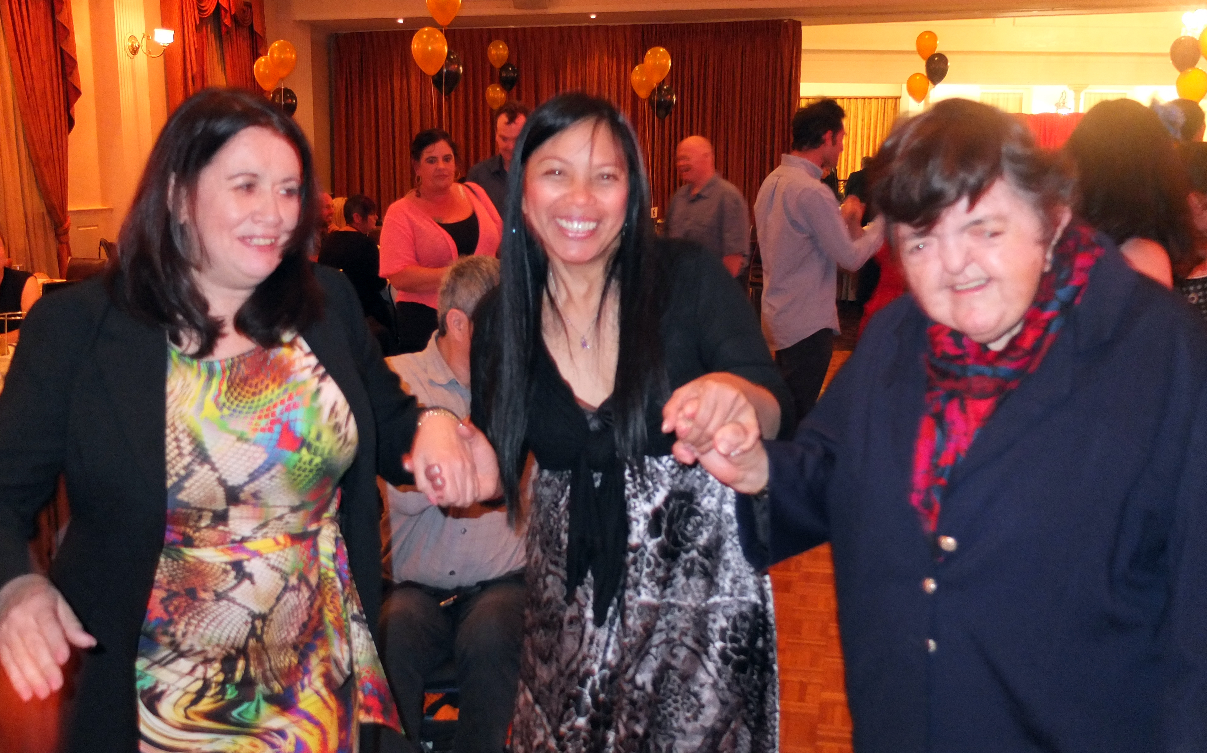 Gayle, Jasmin and Val at Dinner Dance
