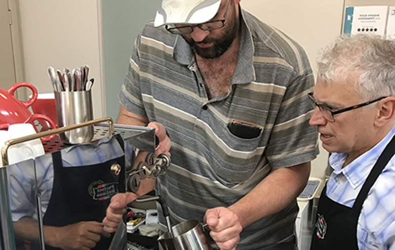 Customers from Whitehorse Community Hub learn food and hospitality skills